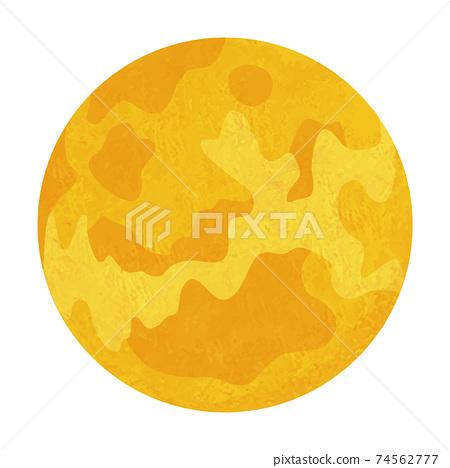 金星太陽系行星手寫風格的插圖 74562777