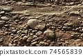 closeup of dirty ground road 74565839