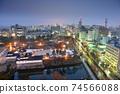 Toyama, Japan Downtown City Skyline 74566088