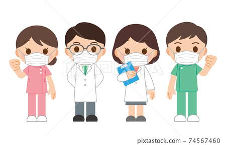 醫生護士口罩男女 74567460