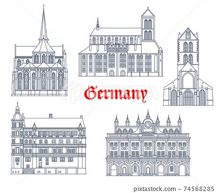 Germany landmarks buildings in Gustrow, Rostock 74568285