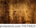 abstract grunge gold painted wall background 74576825