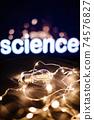 science light filament idea background 74576827