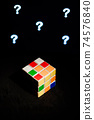 rubik's cube solution and mind concept 74576840