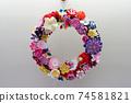 Knob work wreath 74581821