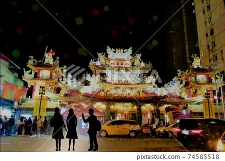 台灣旅遊圖片饒河街觀光夜市慈佑宮 74585518