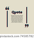 Vector template a creative quote bracket square 74585782