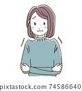 一名常年患有血液循環不良的婦女的插圖 74586640
