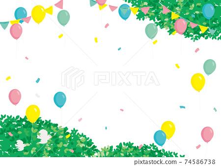 事件背景圖氣球和新鮮的綠色 74586738