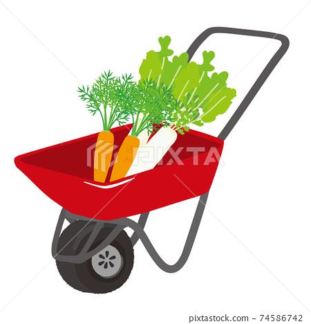農業的獨輪車的插圖 74586742