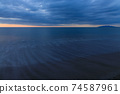 황혼의 바다 모래 동해 2 월 74587961