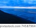 황혼의 바다 모래 동해 2 월 74587964