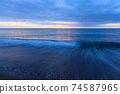 황혼의 바다 모래 동해 2 월 74587965