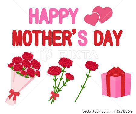 母親節的插圖 74589558