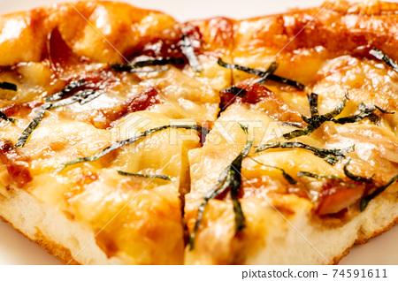 일본식 피자 업. 74591611