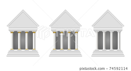 Ancient temple vector design illustration isolated on white background 74592114