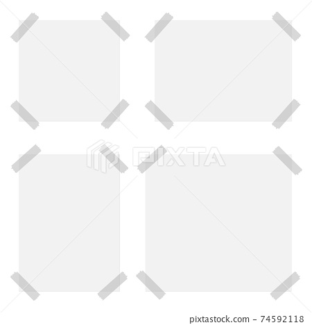 Taped paper set vector design illustration isolated on white background 74592118