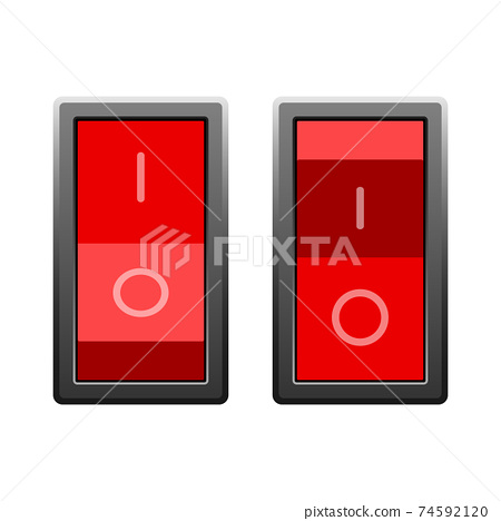 On and off switch vector design illustration isolated on white background 74592120