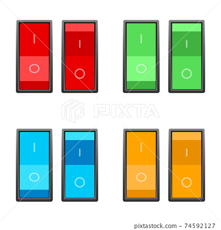 On and off switch vector design illustration isolated on white background 74592127