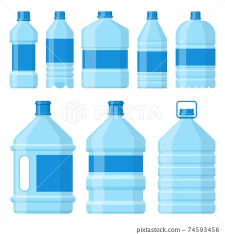 Water bottle vector design illustration isolated on white background 74593456