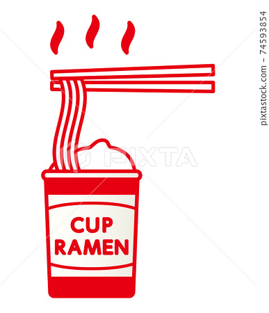 用筷子吃杯拉麵 74593854