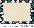 復古山茶花背景框架 74594036
