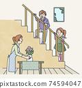 帶樓梯的客廳 74594047