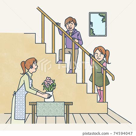 계단이있는 거실 74594047