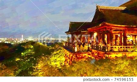 京都清水寺的風景 74596155