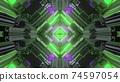 3d illustration of rhombus shaped corridor 74597054