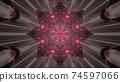 Futuristic star shaped portal 3d illustration 74597066