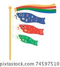 三色鯉魚旗 74597510
