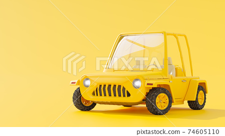 Yellow toy truck. 74605110
