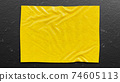 Abstract Yellow canvas. 74605113