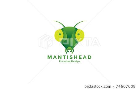 animal insect mantis head abstract logo design vector icon symbol illustration 74607609