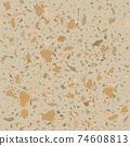 Terrazzo seamless pattern. Earthy classic flooring 74608813