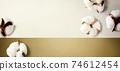 White cotton flowers 74612454