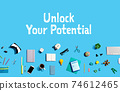 Unlock your potential with electronic gadgets and office supplies 74612465