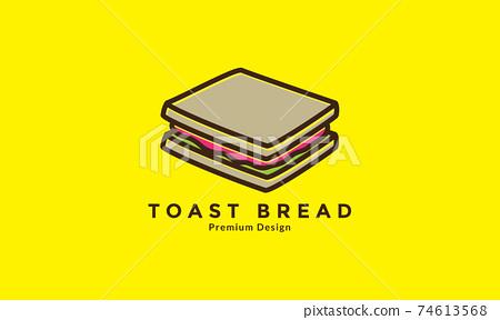 toast with vegetables logo design vector icon symbol illustration 74613568