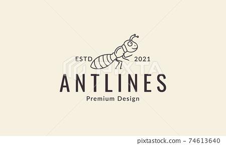 animal insect ant cartoon lines walk logo design vector icon symbol illustration 74613640