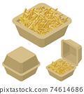 外賣薯條矢量圖 74614686