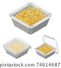 外賣薯條矢量圖 74614687