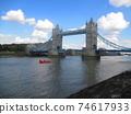 London Tower Bridge diorama style 74617933