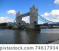 London Tower Bridge diorama style 74617934