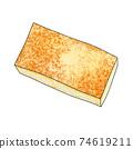 食材2-2燒豆腐⑤帶有主線也可用於火鍋,便當盒和烹飪圖像組合系列 74619211