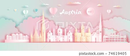 Paper cut, Paper Art, Origami, Postcard And Poster, Austria Colorful Architecture. 74619405