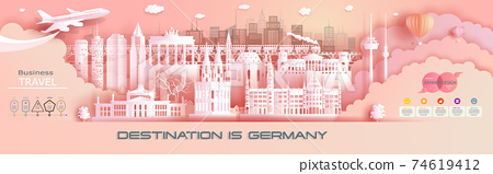 Advertising travel company go to Germany top world famous. 74619412