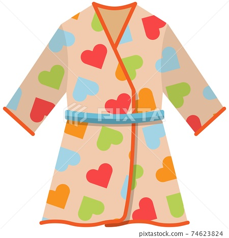 Baby bathrobe vector isolated on white background 74623824