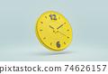 Clock yellow color. 74626157