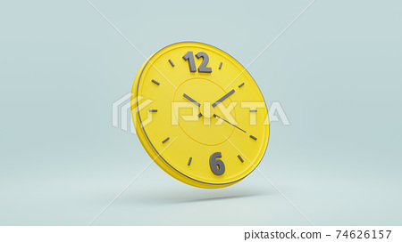 Clock yellow color. 74626157